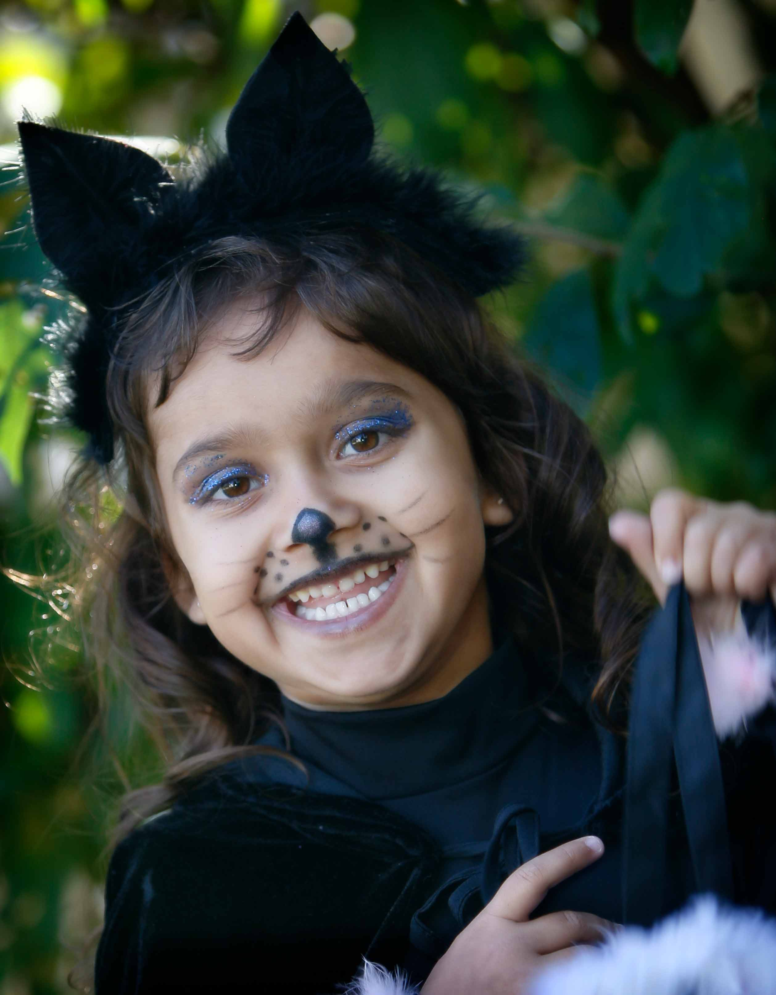 Halloween Cat outfit little girl