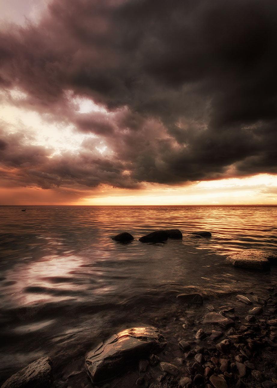 Golden Sunset at Bronte Lake Oakville
