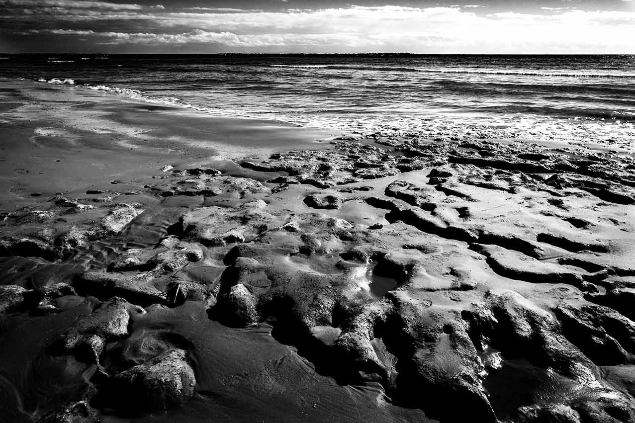 Rough sand b&w