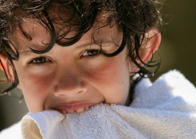Boy in Towel