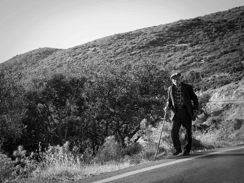 Old man in rural Greece